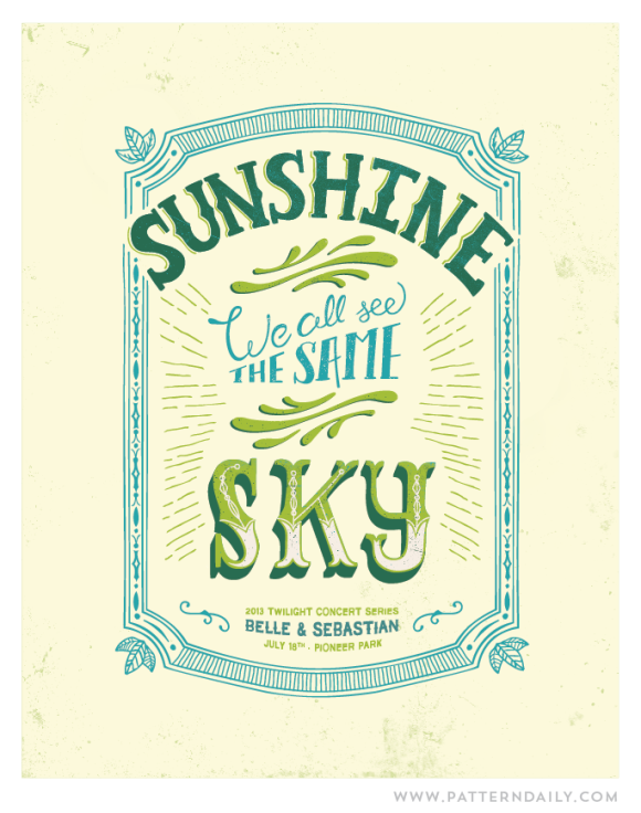 Sunshine We All See The Same Sky // PatternDaily